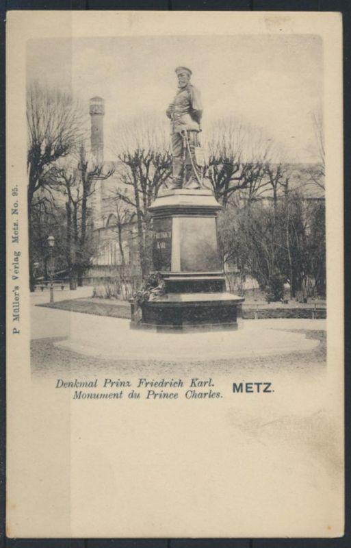 Militaria Ansichtskarte Frankreich Metz Prinz Friedrich Karl Prince Charles