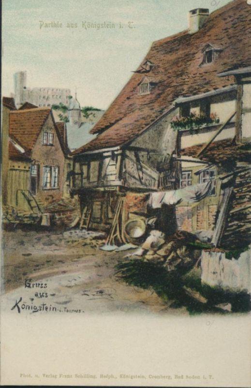 Ansichtskarte Künstler Parie aus Königsstein im Taunus