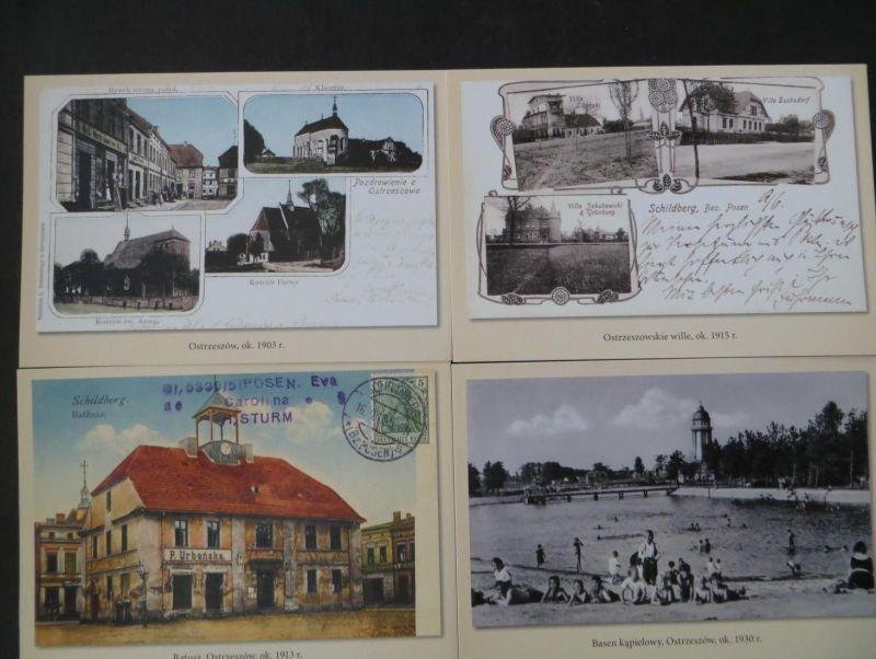 Ansichtskarte Leporello Schildberg Pozdrowienia z Ostrzeszowa Posen Polen mit