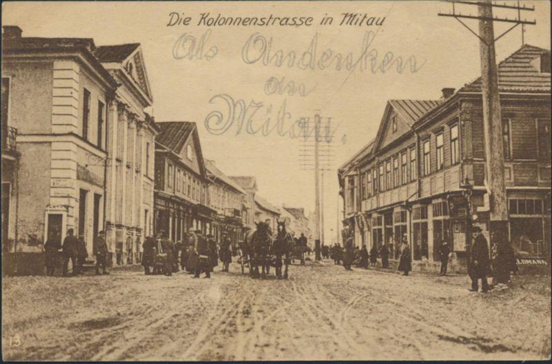 Ansichtskarte Feldpost 1916 nach Charlottenburg Kolonnenstraße in Mitau Jelgava