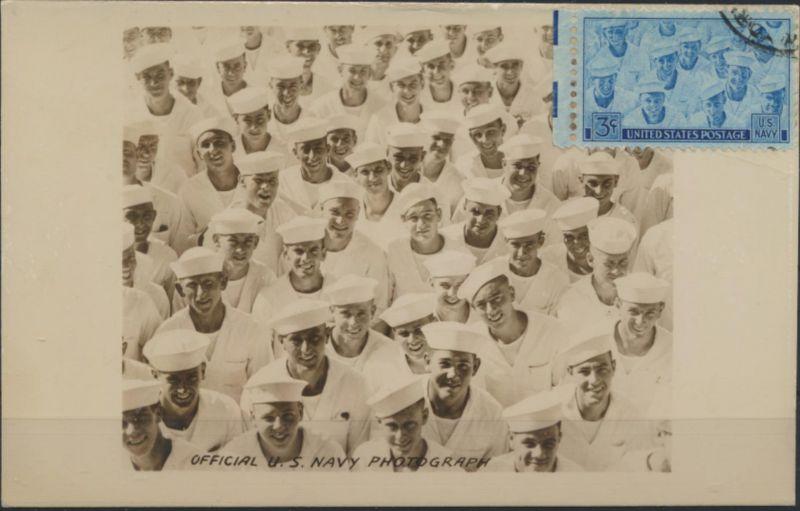Ansichtskarte USA Seefahrt Marine U.S. Navy +Marke Eindruck George W Wentz Texas