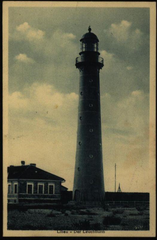 Ansichtskarte Libau Liepāja Lettland Feldpost Marine Briefstempel VP Flotte Ost