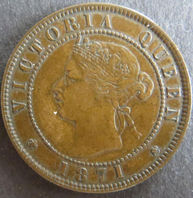 Münze Kanada - Prinz Eduard Insel 1871 - 1 Cent Königin Victoria Bronze vz