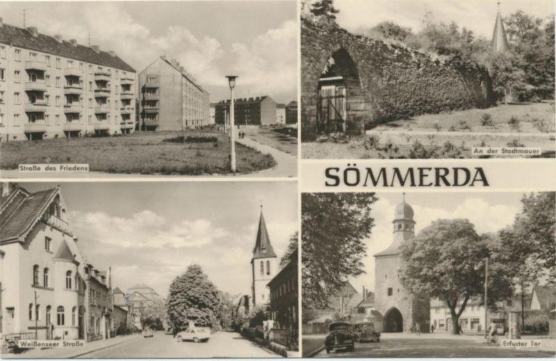 Ansichtskarte Sömmerda Str. des Friedens Weißenseerstr. Thüringen n. Düsseldorf