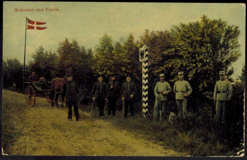 Ansichtskarte Farris Nordschleswig Landesgrenze Deutschland - Dänemark 1910