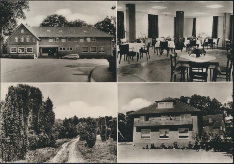 Ansichtskarte Sahrendorf Studtmanns Gasthof Cafe ADAC Innenansicht