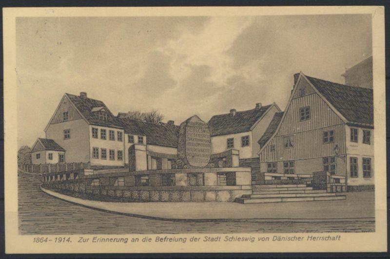 Ansichtskarte Schleswig Befreiung v. Dänemark  n. Frauenhof Verlag Gustav Rasch