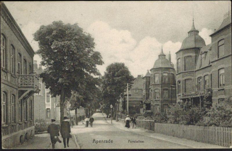 Ansichtskarte Apenrade Aabenraa Forstallee Dänemark Schleswig Holstein