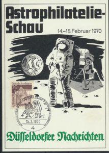 Ansichtskarte Astrophilatelie-Schau SST 1970 Düsseldorfer Nachrichten
