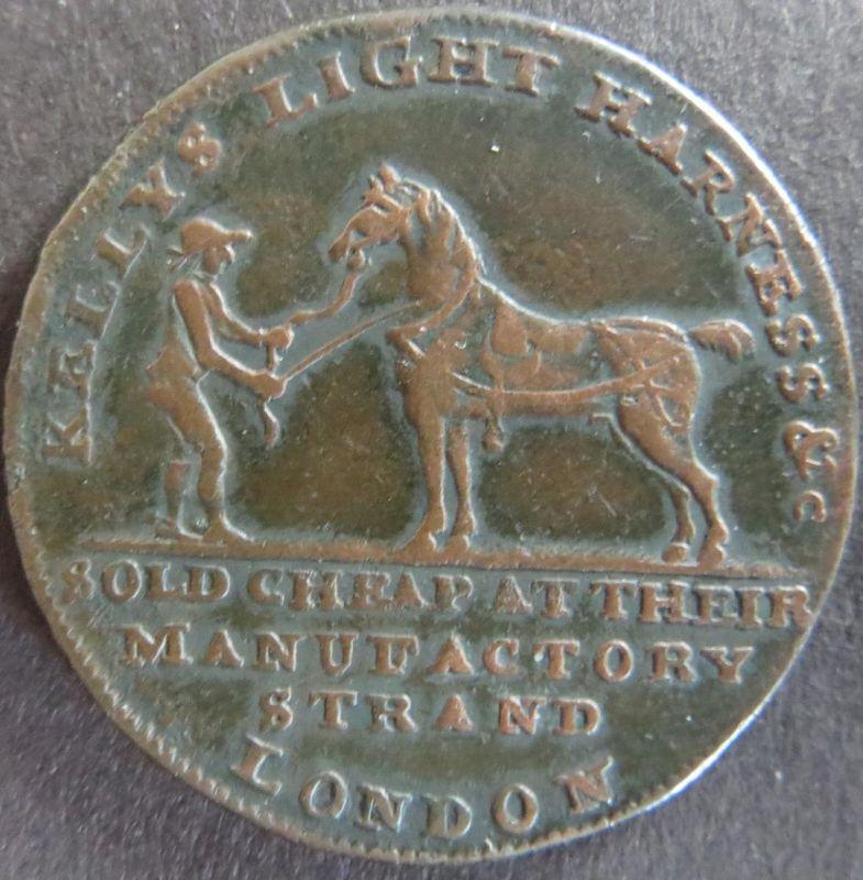 Großbritannien 1790 - Half Penny Token Kelly's Patent Sadlery ss