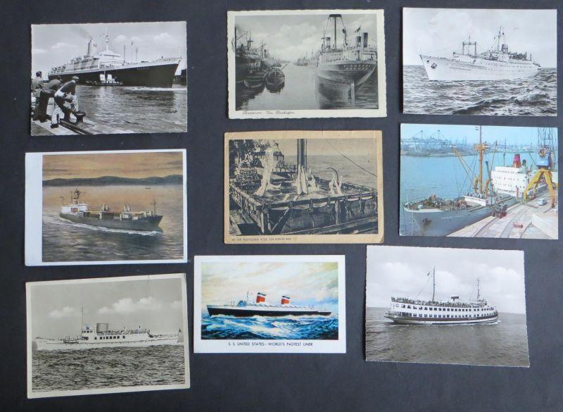 Sammlung von 8 Ansichtskarten Postkarten Feuerwehr Auto LKW A. Scholz-Verlag
