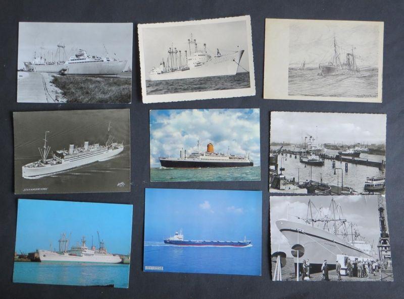 Schiffe Marine Seefahrt schöne Sammlung von 27 Ansichtskarten der verschied. Art