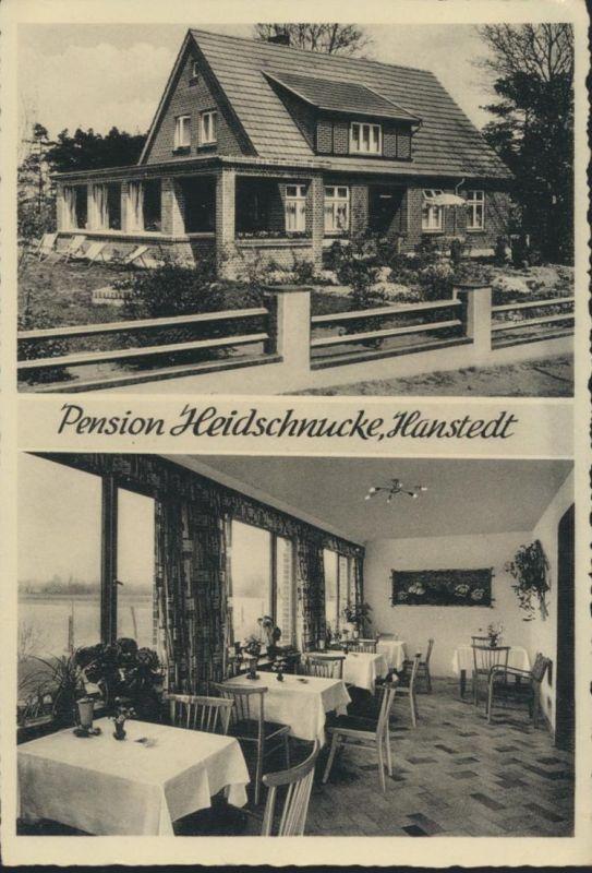 Ansichtskarte Foto Hanstedt Pension Heidschnucke Innenansicht Inh. Frau Farnell