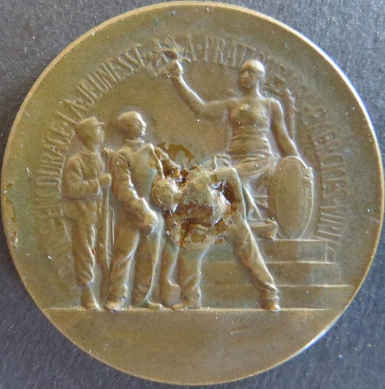Medaille Frankreich - Patrie encourage la jeunesse ca. 1890  Kupfer s