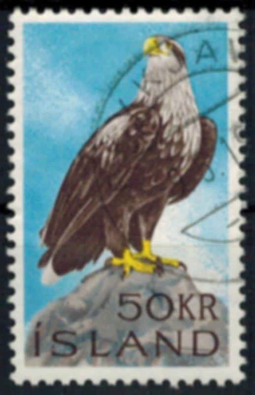 Island 399 Seeadler 50 Kronen 1966 sauber gestempelt Greifvogel Tiere 0