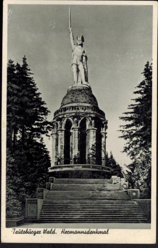 Ansichtskarte Teutoburger Wald Hermannsdenkmal NRW Niedersachsen 1953