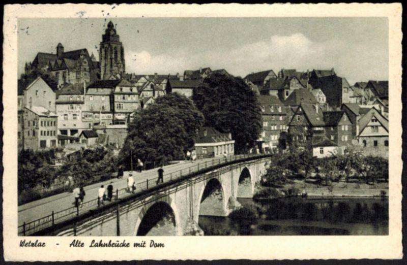 Ansichtskarte Wetzlar Lahn Brücke Dom Hessen