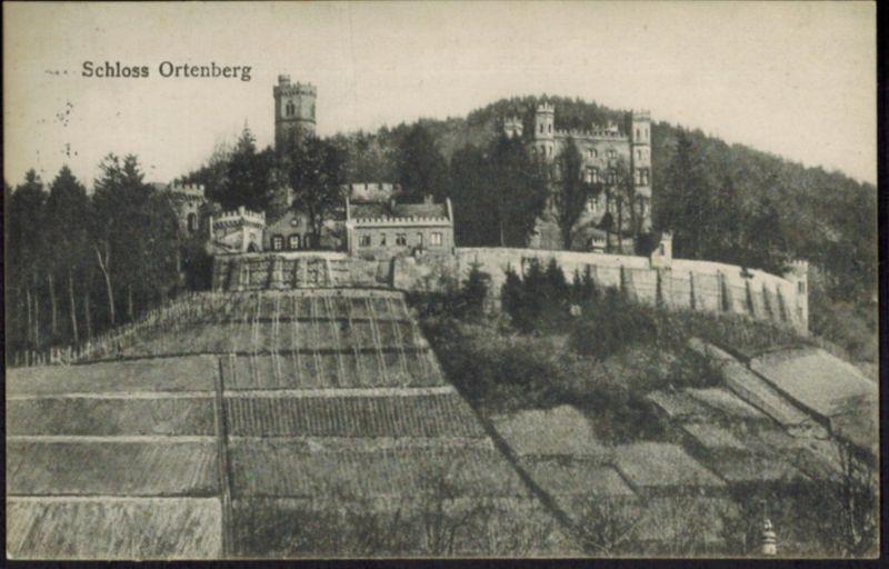 Ansichtskarte Schloß Ortenberg 1914 ab Offenbach nach Köln-Ehrenfeld