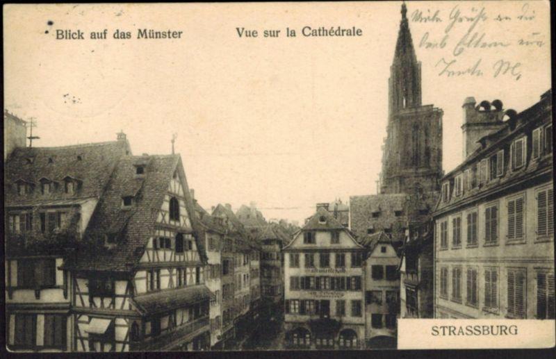 Ansichtskarte Straßburg Kathedrale Frankreich 1911