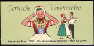 DDR Markenheftchen 5 I 3 a Sorbische Tanztrachten 1972 tadellos postfrisch