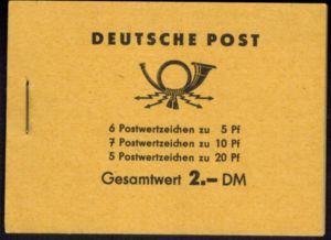 DDR Markenheftchen 3b2 Fünfjahresplan 1961 tadellos postfrisch