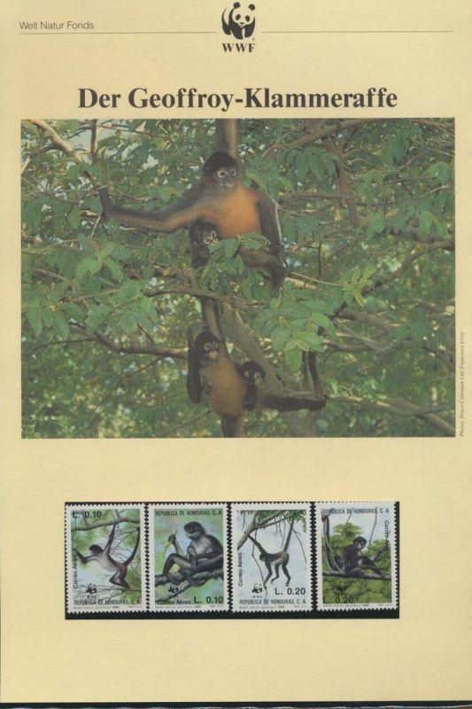WWF Honduras 1084-1087 Der Geoffrey-Klammeraffe kpl. Kapitel bestehend