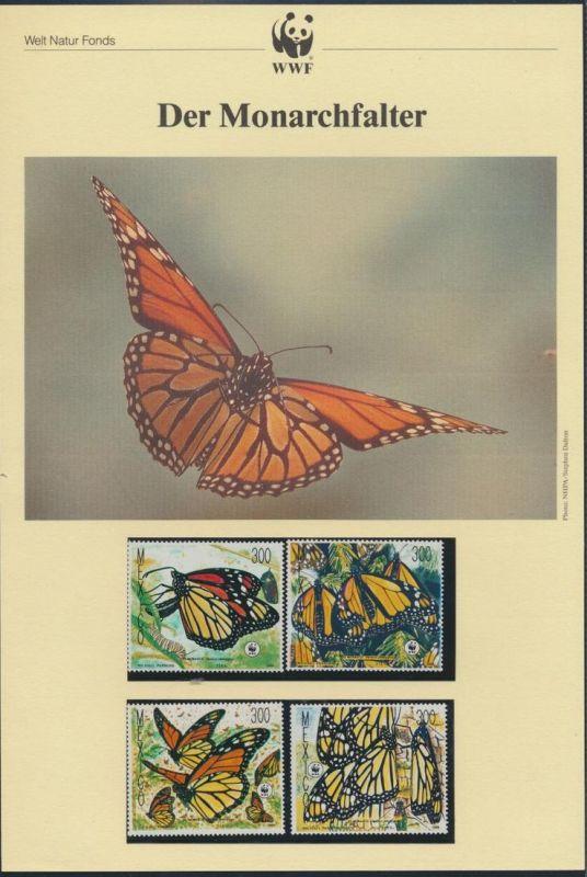 WWF Mexiko 2095-2098 Tiere Schmetterlinge Monarchfalter kpl. Kapitel bestehend
