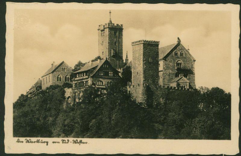 Ansichtskarte Wartburg Eisenach Thüringen gelaufen 1937