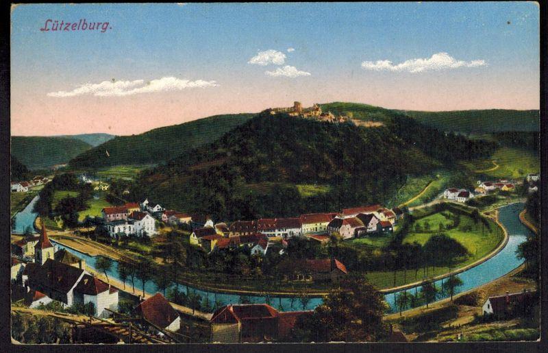 Ansichtskarte Lützelburg Bayern gelaufen 1915