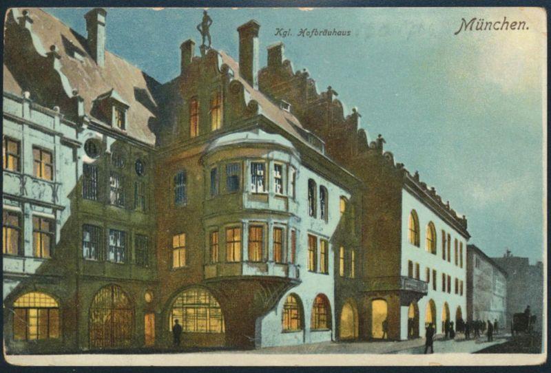 Ansichtskarte München Köngl. Hofbräuhaus ungelaufen