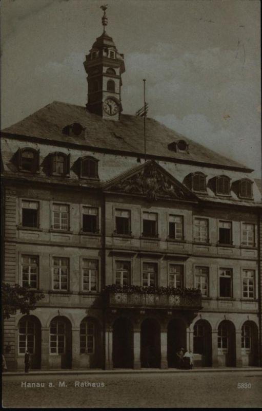 Ansichtskarte Hanau Rathaus 1927 Hessen