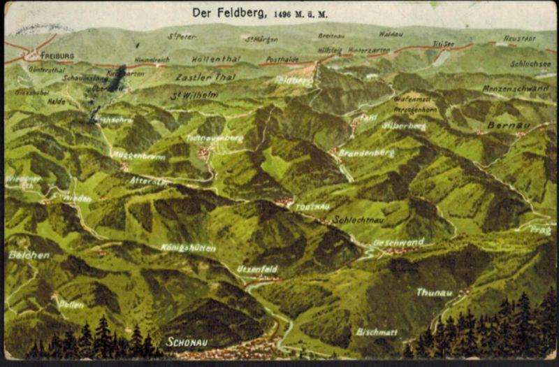 Ansichtskarte Feldberg Berge Bergsteigen Bayern Baden Würtemberg 1911