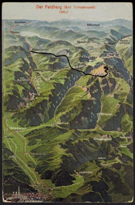 Ansichtskarte Feldberg Berge Bergsteigen Bayern Baden Würrtemberg