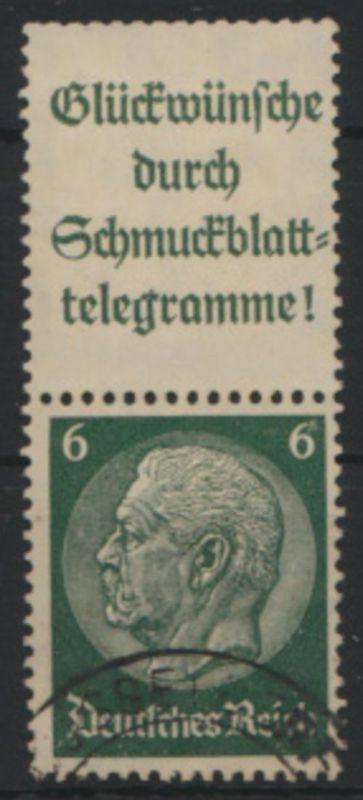 Deutsches Reich Zusammendruck S 183 Hindenburg gestempelt Kat.-Wert 7,50