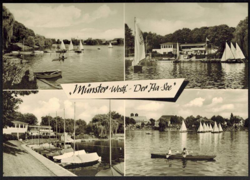 Ansichtskarte Münster Westfalen Der Aa-See NRW