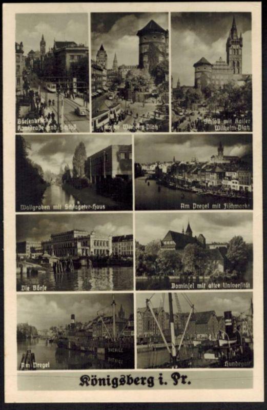 Ansichtskarte Königsberg i. Ostpreußen Automobil ehemalige Gebiete