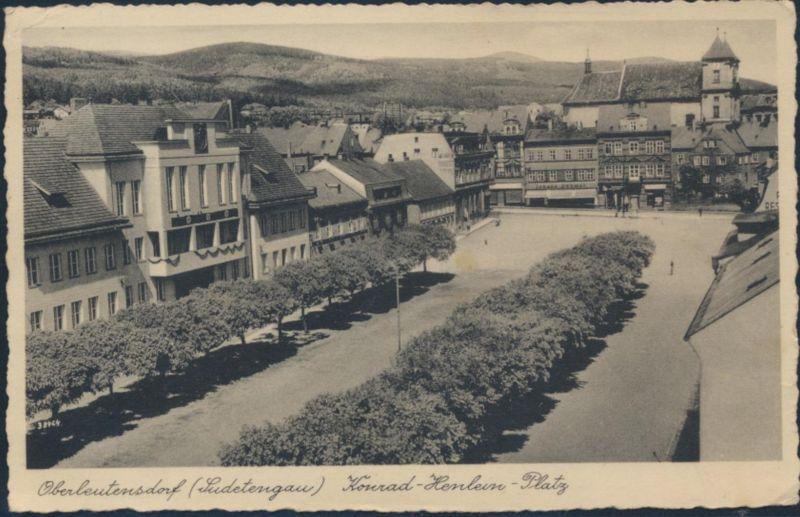 Ansichtskarte Foto Oberleutensdorf Horní Litvínov Konrad Henlein Pl. Böhmen 1933