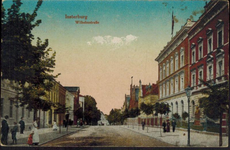 Ansichtskarte Insterburg Tschernjachowsk Rußland an das Rittergut Winningen