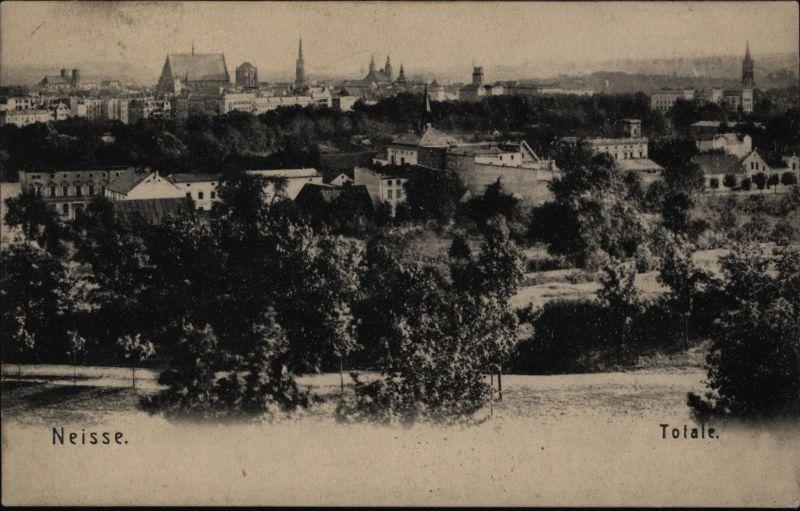 Ansichtskarte Neisse Schlesien Nysa Polen 1905 nach Breslau