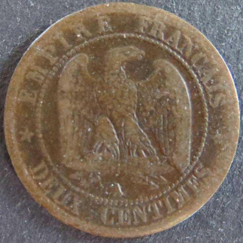 Münze Frankreich France 2 Centimes 1856 schön F Napoleon III.