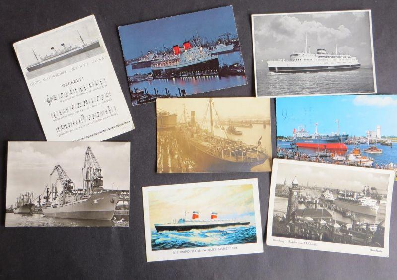 Schiffe Marine Seefahrt schöne Sammlung von 25 Ansichtskarten der verschied. Art