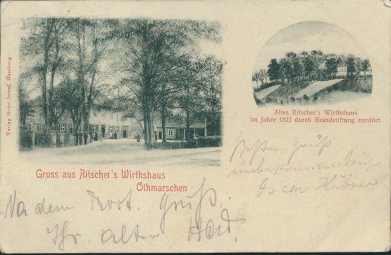 Ansichtskarte Othmarschen Ritscher's Wirthshaus Altona Chaux de Fonds Schweiz
