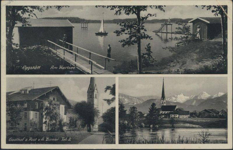 Ansichtskarte Eggstätt Am Hartsee Gasthof zur Post Panorama