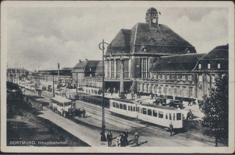 Ansichtskarte Dortmund Hauptbahnhof Straßenbahn Bus