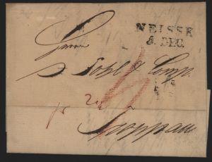 Preussen Vorphila Brief L2 Neisse Nysa Schlesien 1828 Polen nach Troppau