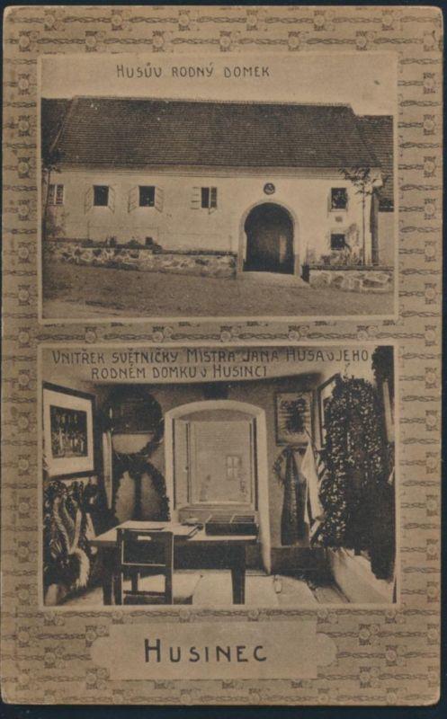 Ansichtskarte Husinec Husuv Rodny Domek Husinec u Netolic Tschechien