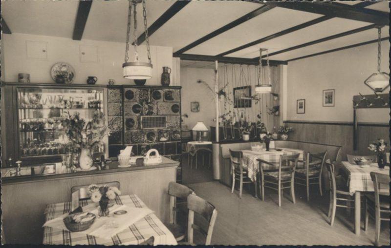 Ansichtskarte Foto Beerfelden Odenwald Gasthaus Zum Goldnen Hirsch Innenansicht