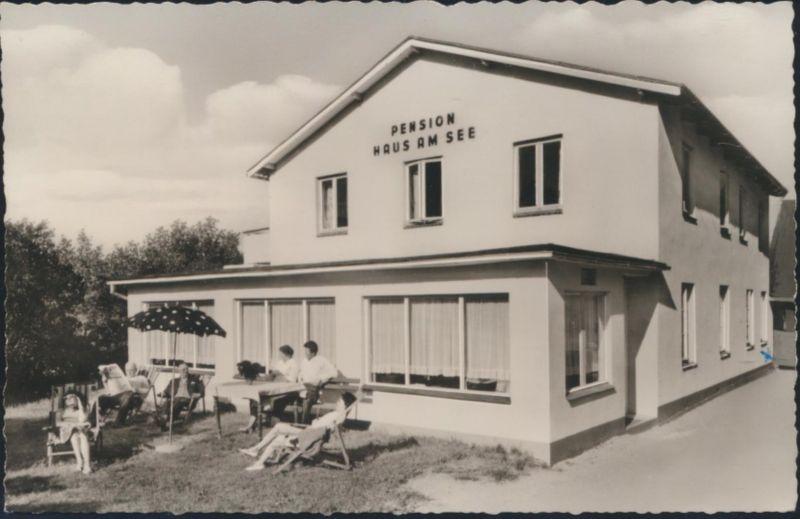 Ansichtskarte Landpost Neukirchen bei Malente Pension Hansen Haus am See