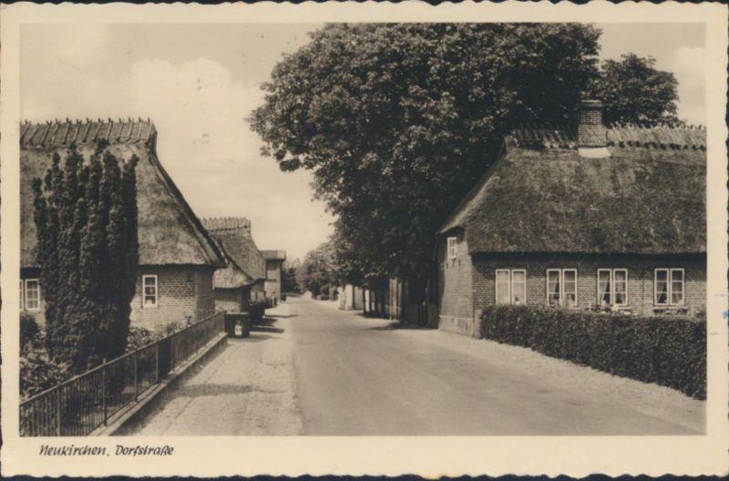 Ansichtskarte Neukirchen Dorfstrasse Landpost nach Hamburg