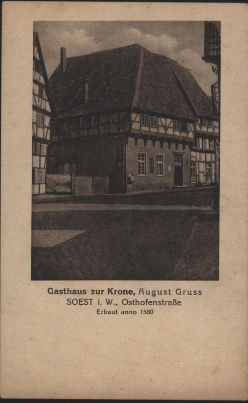 Ansichtskarte Soest Gasthaus zur Krone Osthofenstraße NRW